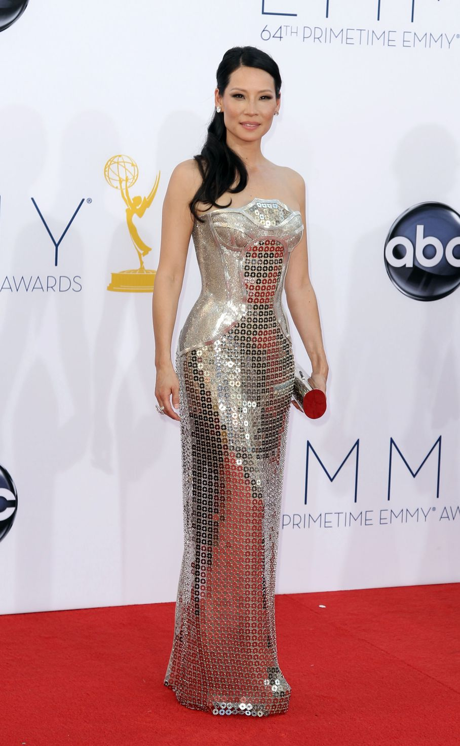 Lucy Liu - 2012 Emmy Awards, Red Carpet Looks