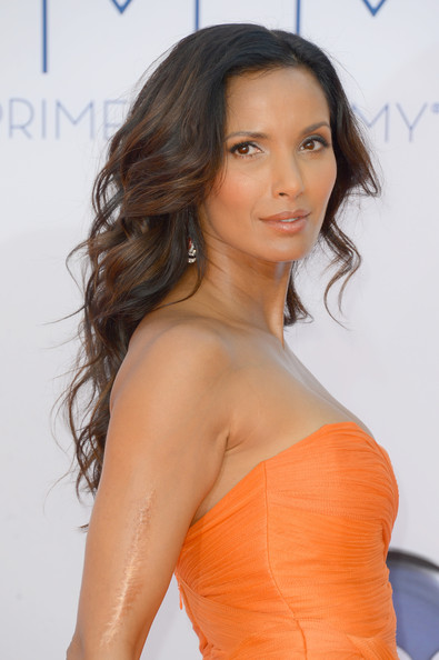 Padma Lakshmi makeup & hair - 2012 Emmy Awards