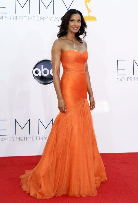 Padma Lakshmi - 2012 Emmy Awards, Red Carpet Looks