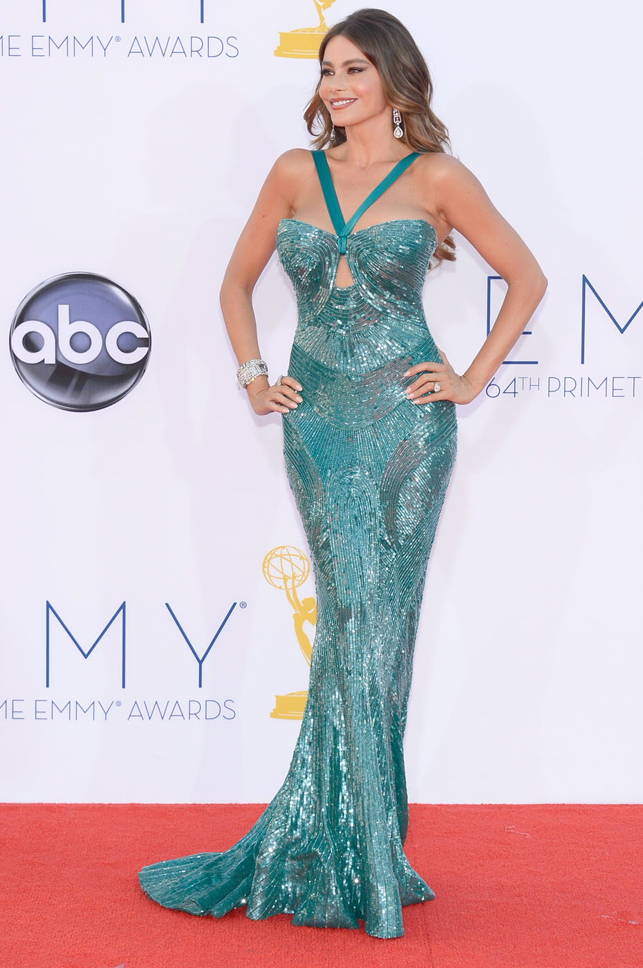 Sofia Vergara - 2012 Emmy Awards, Red Carpet Looks