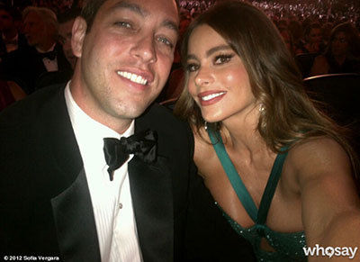 Sofia Vergara & fiance Nick Loeb - 2012 Emmy Awards