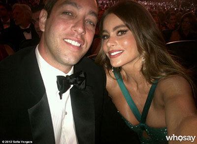 Sofia Vergara & fiance Nick Loeb - 2012 Emmy Awards