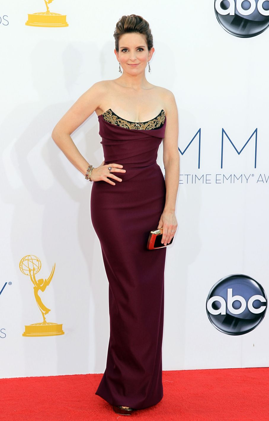 Tina Fey - 2012 Emmy Awards, Red Carpet Looks
