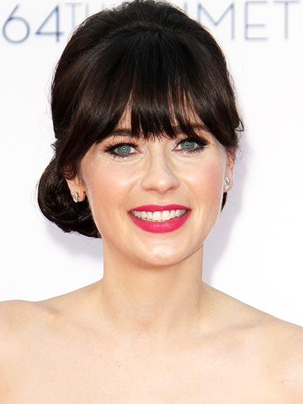 Zoey- Deschanel makeup & hair - 2012 Emmy Awards