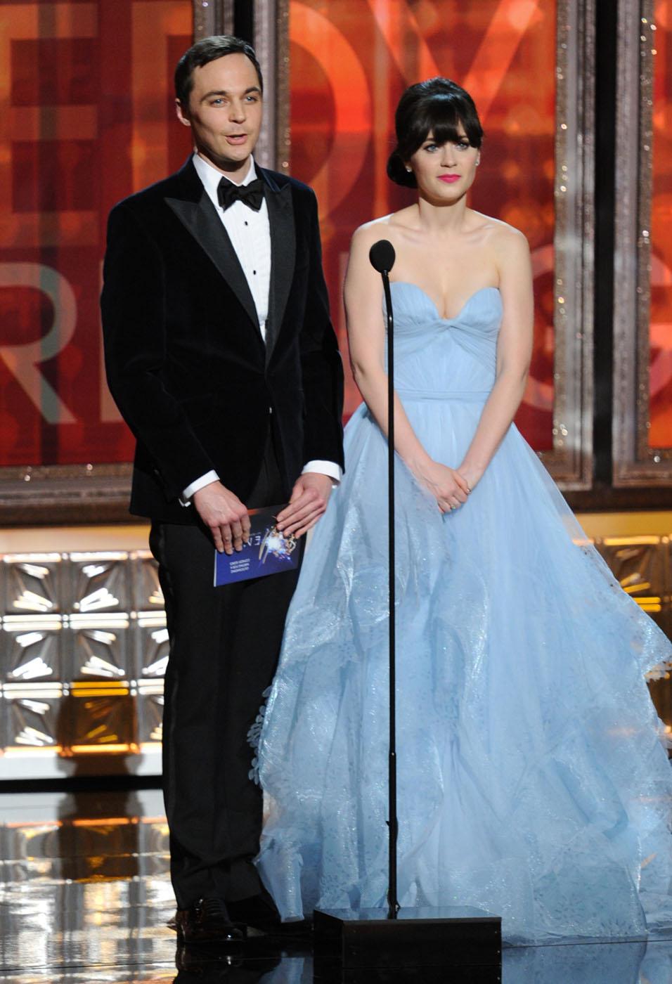 Zoey Deschanel - 2012 Emmy Awards, Red Carpet Looks