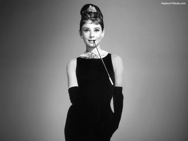 Audrey Hepburn Style, Black Dress