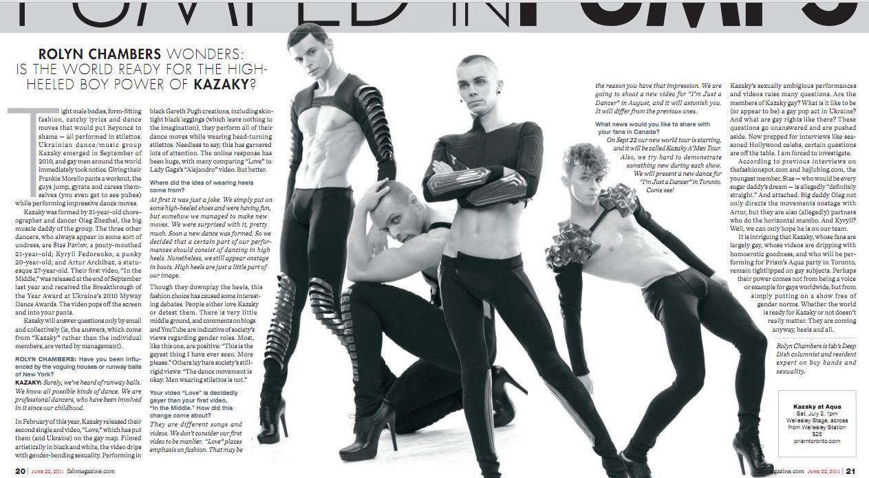 kazaky tumbler1 Kazaky   The Stiletto Stomping Boy Band Who Breaks All Stereotypes!