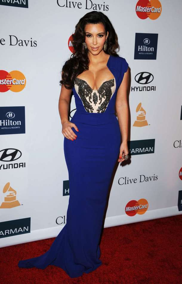 Kim Kardashian Blue Dress