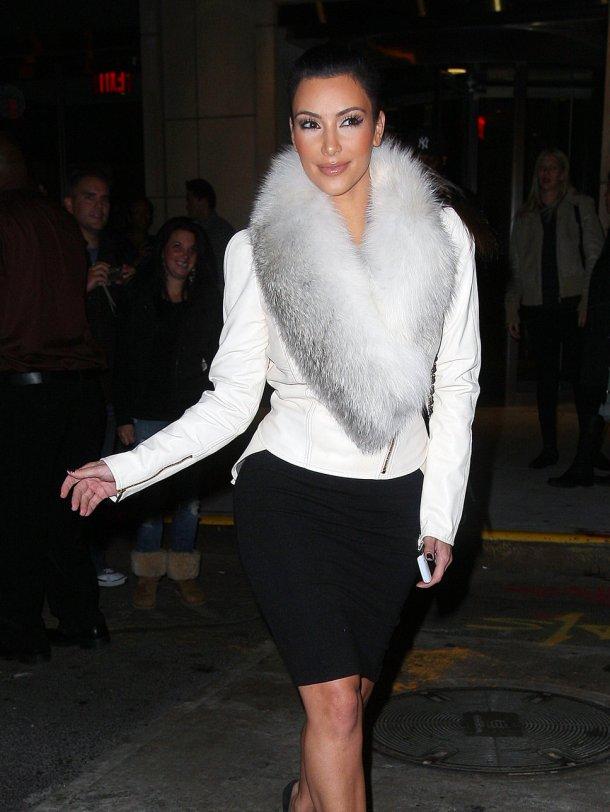 Kim Kardashian Style - Fur