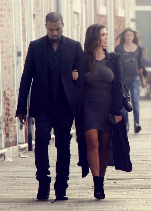 Kim Kardashian & Kanye West - Style, Oversized Black Trench-Coat