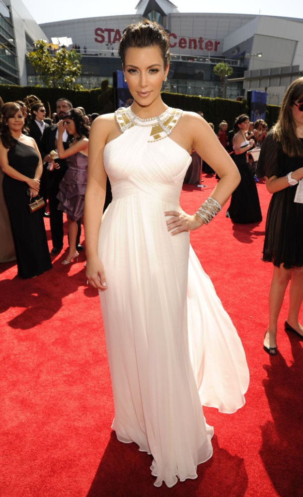 Kim Kardashian Red Carpet Style - White Dress