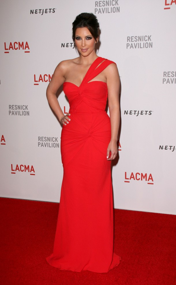 Kim Kardashian Red Carpet Style - Red Dress