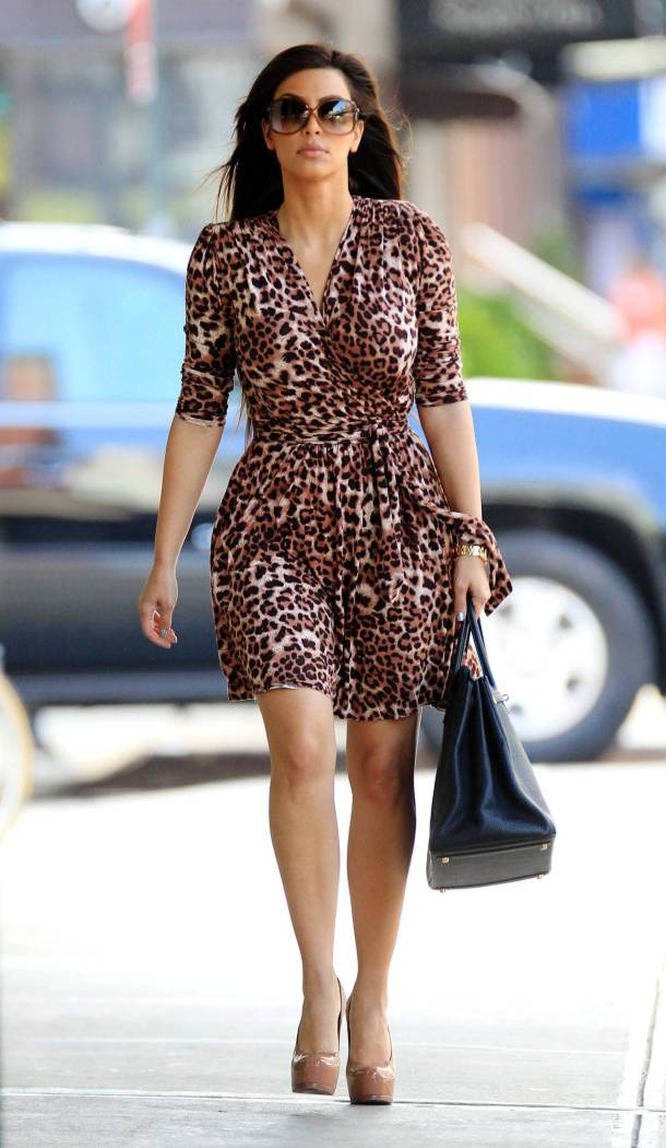 Kim Kardashian Style - Animal Print Dress