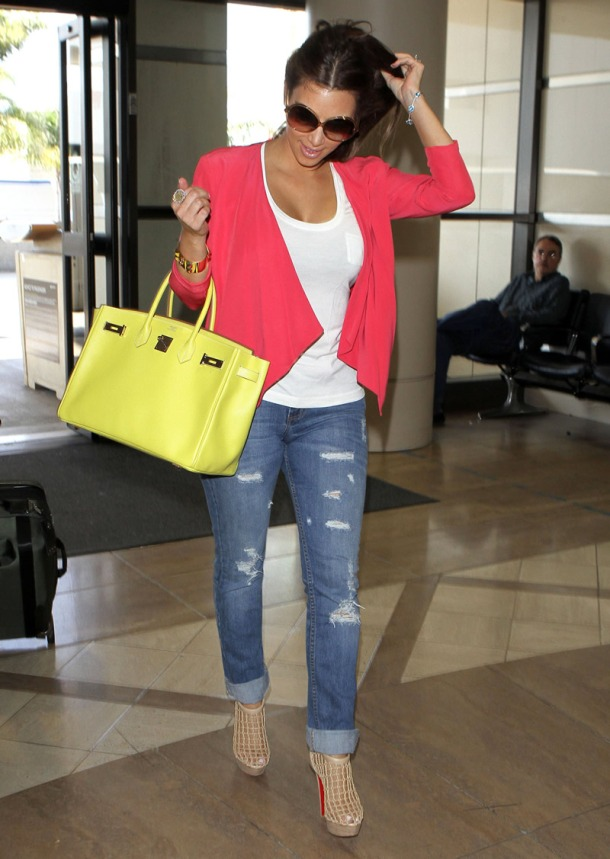 Kim Kardashian - Yellow Birkin Bag