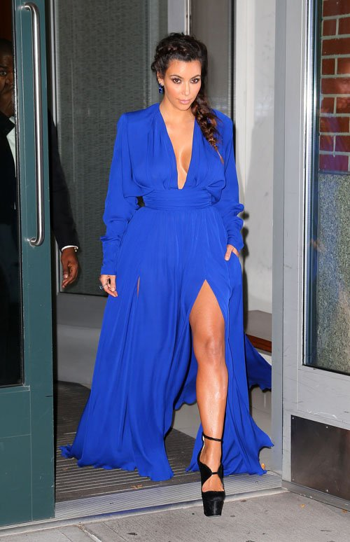 Kim Kardashian Style - Rd Carpet Blue Dress
