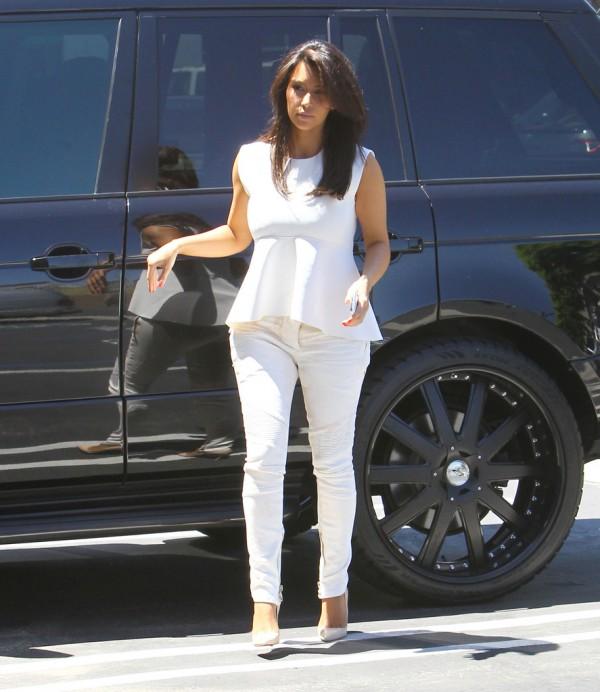 Kim Kardashian Style - White Outfit & peplum