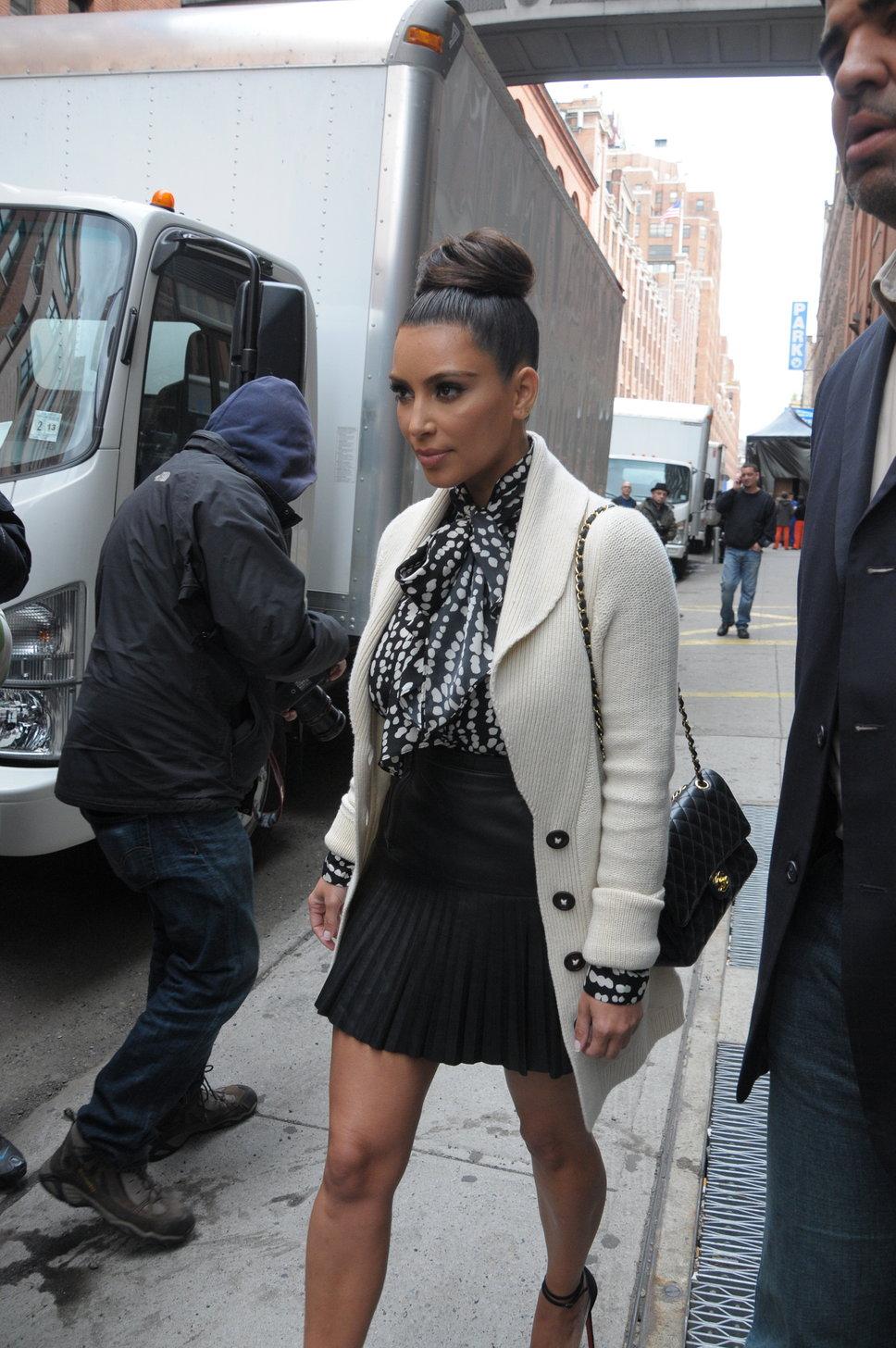Kim Kardashian Style - White Coat