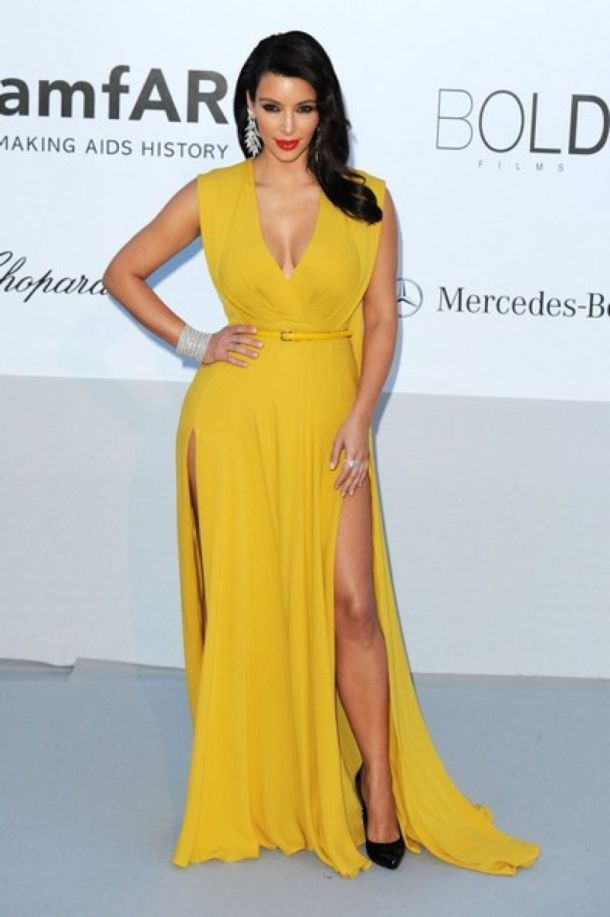Kim Kardashian - Yellow Dress