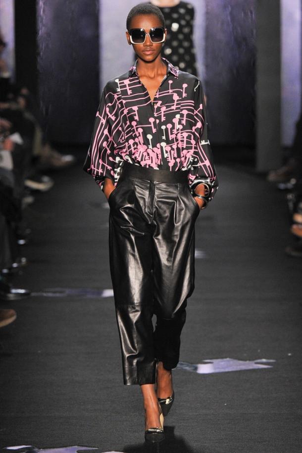 Leather Trend  - Autumn Winter 2012-2013; Diane von Furstenberg