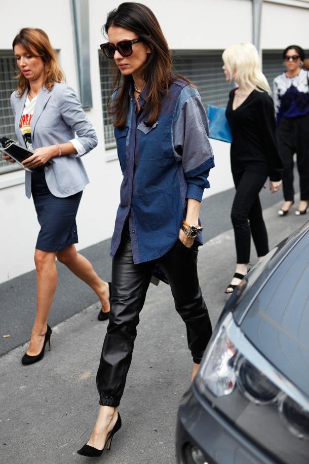 Leather trend - street style