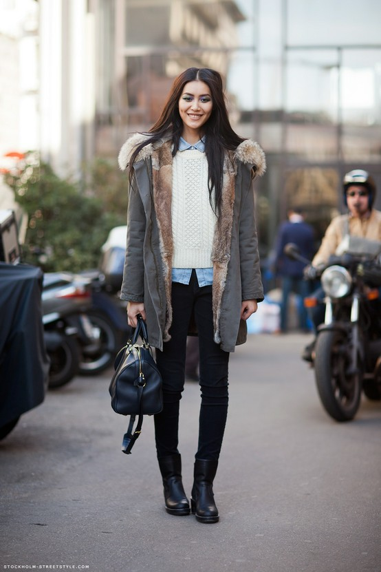 Parka Look - Street Style, Winter 2013