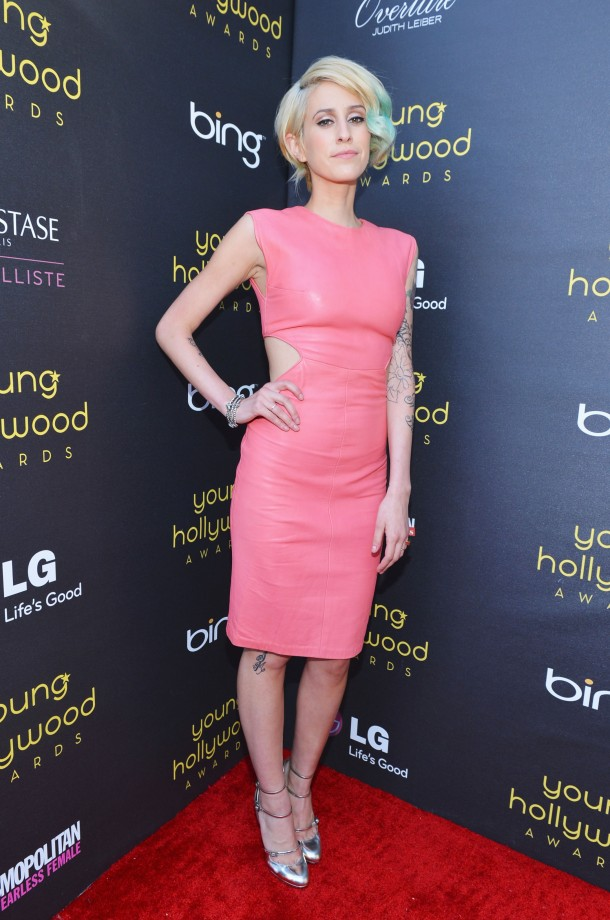 pink Leather dress