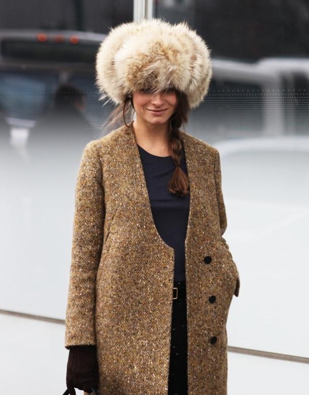 Russian Fashion Trend, Street Style, fur hat