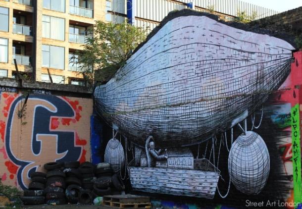 Hackney, London, street art