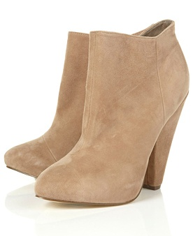 Topshop $124 - Suede Nude Ankle Boots