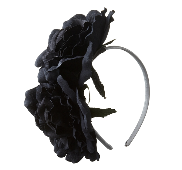 Johnny Loves Rosie Double Corsage Flower Headband, Black/silver £39.50 from johnlewis.com