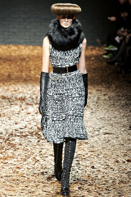 Alexander McQueren Wool Dress - Autumn/Winter 2013