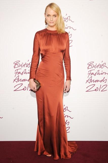 Amber Valletta - British Fashion Awards 2012; wearing Stella McCartney dress