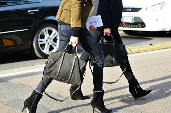black heels ankle boots How To Wear Ankle Boots? Looks, Tips & Street Style Close Up!