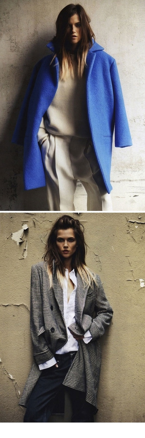 blue oversize coat Coat Styles For Winter 2013! What To Wear?