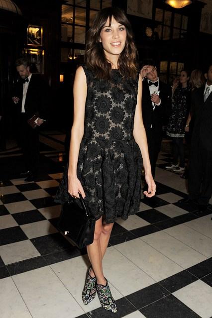 Alexa Chung -British Fashion Awards 2012, wearing Simone Rocha