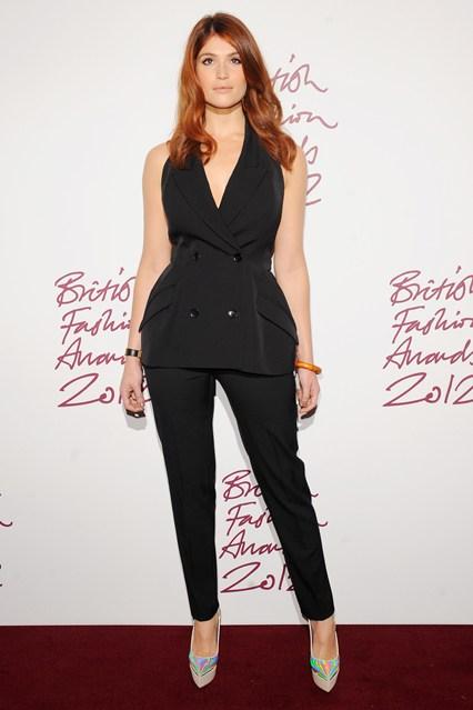 Gemma Arterton - presenter of British Fashion Awards; in Stella McCartney Dress