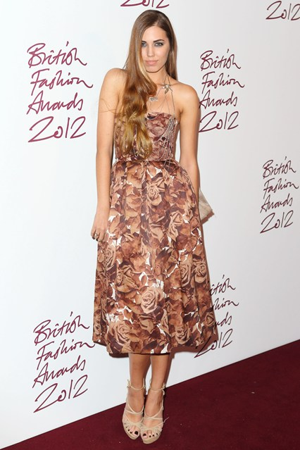 Amber Le Bon - British Fashion Awards; wearing Christoper Kane