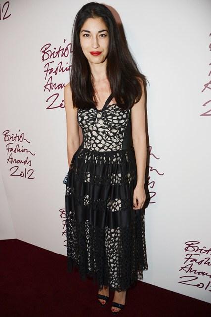 Caroline Issa in Temperley London - British Fashion Awards 2012