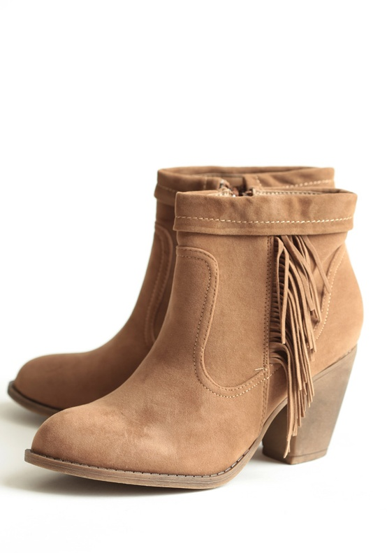 Dallas Fringe Ankle Boots - $42.99