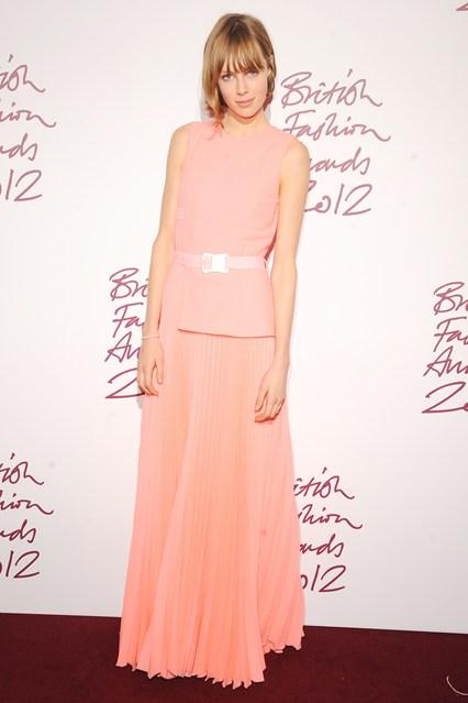 Edie Campbell - British Fashion Awards 2012; in Christopher Kane dress
