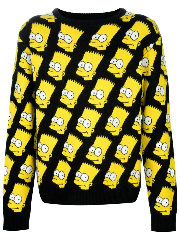 Jeremy Scott Bart Print Jumper