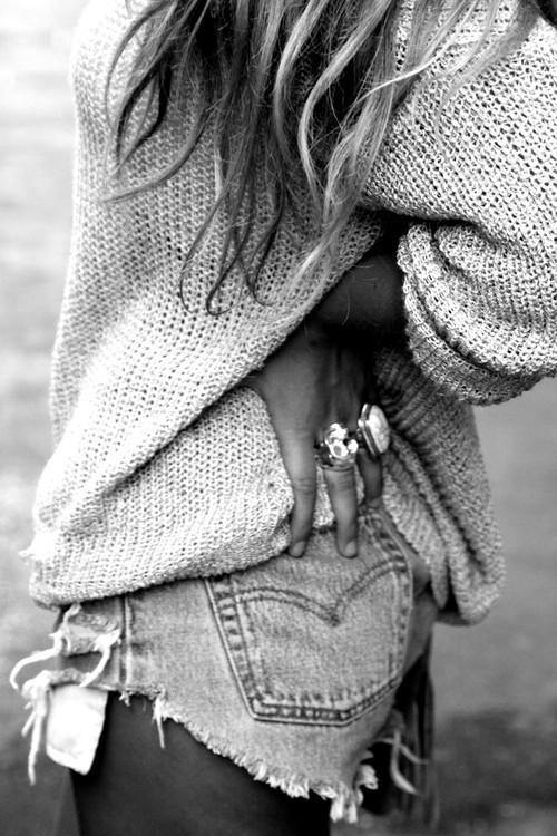 fashion cutoffs Trend Alert    Denim Cutoff Shorts With Tights!