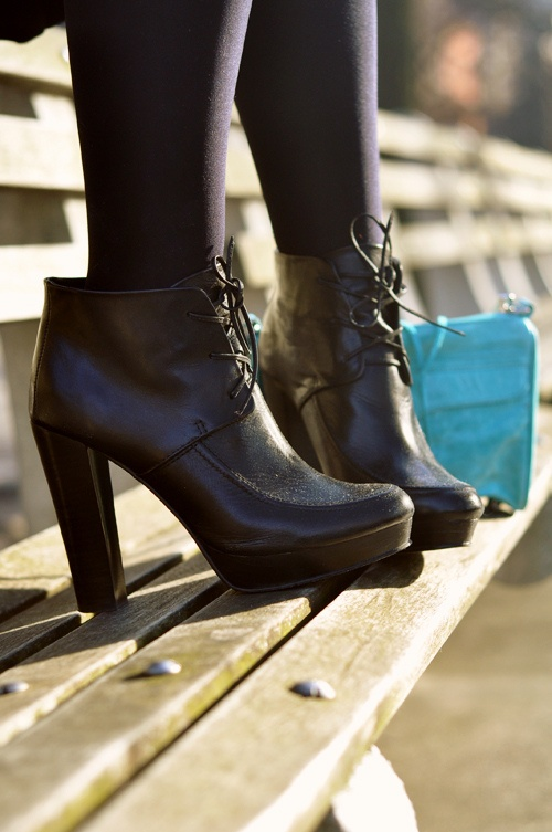 high heels black lace ankle boots1 How To Wear Ankle Boots? Looks, Tips & Street Style Close Up!