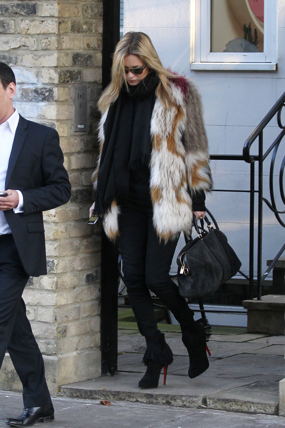 kate moss winter fur coat Coat Styles For Winter 2013! What To Wear?