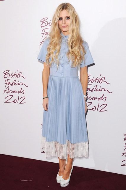 Laura Bailey - British Fashion Awards 2012; in Stella McCartney dress