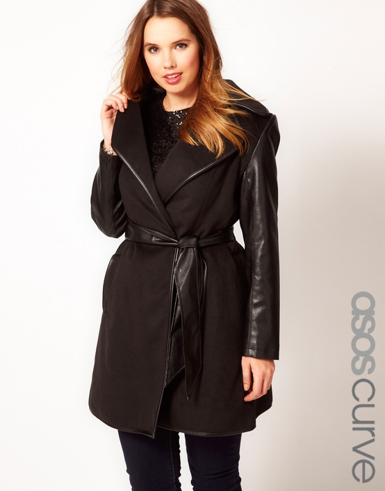 leather sleeves coat Coat Styles For Winter 2013! What To Wear?