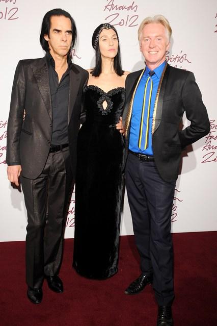 Nick Cave & Phillip Treacy - British Fashion Awards 2012