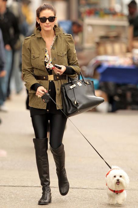 Olivia Palermo - knee high boots