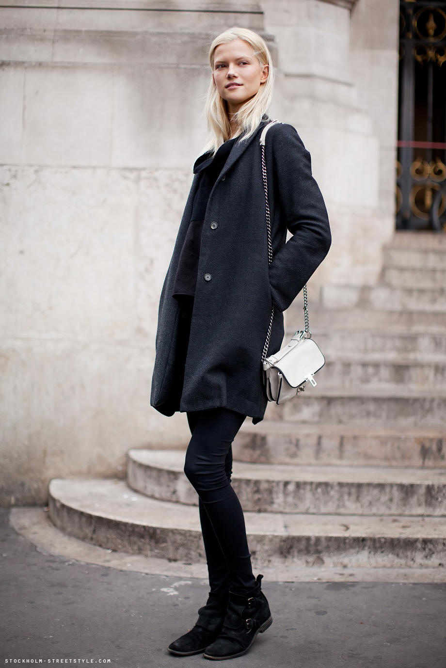 oversize coat street style 1 Coat Styles For Winter 2013! What To Wear?