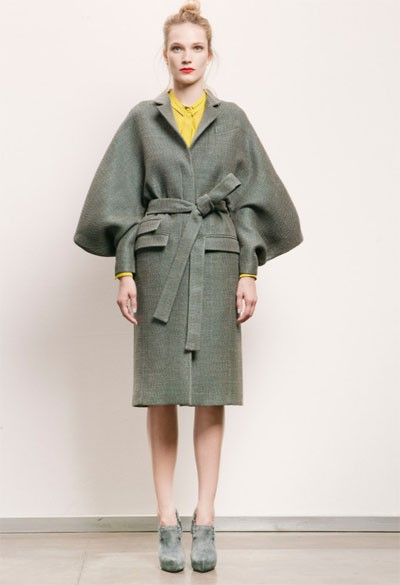 oversize grey coat Coat Styles For Winter 2013! What To Wear?